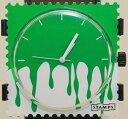 【送料無料】腕時計 ウォッチグリーンスタンプスタンプstamps briefmarken uhr floating green 1411064 stamps
