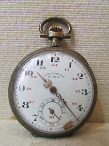 【送料無料】腕時計 ウォッチノートルダムデュクロノメータアルジェントアルゴルancienne montre a gousset chronometre 19 eme argent monogramme rg algol