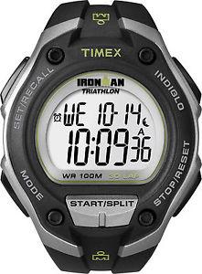 腕時計, 男女兼用腕時計  timex t5k412, men039;s 034;ironman034; resin 30lap watch, alarm, chronograph, indiglo