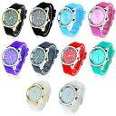 【送料無料】腕時計 ウォッチシリコーンラウンドラインストーンアナログsa106 womens qulit silicone round rhinestone analog wrist watch