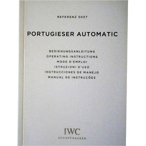 [Free shipping] Watch Watch Portugal Manual iwc portugieser automatic watch operating instructions booklet manual ref 5007