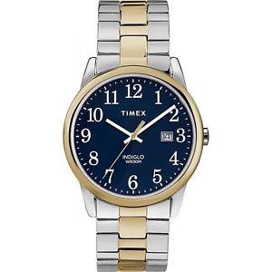 【送料無料】腕時計 ウォッチリーダートーンウォッチtimex tw2r58500, easy reader, men039;s 2tone expansion watch, indiglo, date