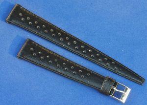 【送料無料】腕時計 ウォッチショートテーパーレザーウォッチストラップラリービンテージshort taperedshape leather vintage 16mm old rally watch strap 1960s70s nos