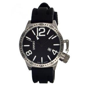【送料無料】腕時計 ウォッチ#ブラックシリコンスイスクオーツシルバー