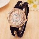 【送料無料】腕時計 ウォッチホットセールブランドシリコンクォーツゴールドウォッチウォッチチェーンhot luxury brand silicone watch women dress quartz watch gold chain