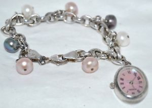 【送料無料】腕時計 ウォッチカラフルブレスレットhonora cultured colorful freshwater pearl sterling silver charm bracelet watch