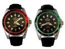【送料無料】腕時計 ウォッチシルバーベゼルブラックレザーストラップメンズアナログクォーツバッテリー