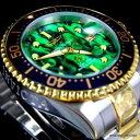 【送料無料】腕時計 ウォッチグランドダイバーグリーンアワビトーンinvicta grand diver green abalone two tone gold plated 47mm automatic watch
