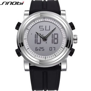 腕時計, 男女兼用腕時計  sinobi brand sports chronograph mens wrist watches digital quartz double