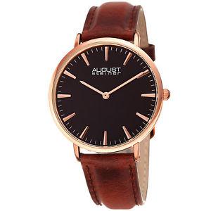 【送料無料】腕時計 ウォッチシュタイナーローズゴールドトーンブラウンレザーストラップウォッチwomens august steiner as8247rgbr rose gold tone brown leather strap watch