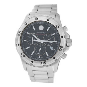 腕時計, 男女兼用腕時計  authentic mens movado series 800 141141060 steel chronograph quart watch