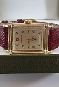 腕時計, 男女兼用腕時計  ka 1940s ww ll era gents longines art deco 10k gf tank watch recently serviced