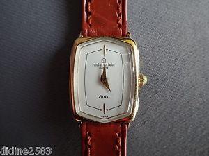 【送料無料】腕時計 ウォッチミッシェルハーブフランスブレスレットマロンファムレディーウォッチmichel herbelin france montre bracelet cuir marron pl or femme lady woman watch