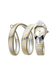 【送料無料】腕時計 ウォッチキャバリシックトーンスチールアゴンjust cavalli womens glam chic watch jc1l022m0045 two tone steel wrap septagon