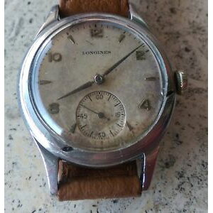 【FREE SHIPPING】Watch Watch Box very rare longines sei tacche ref23714 1948 cal 1268z ww2 era with box