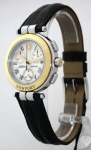 【送料無料】腕時計 ウォッチミッシェルハーブニューポートレディースクロノグラフウォッチユーロmichel herbelin port damenuhr chronograph ref 34454aor08 uvp 1195,00 eur