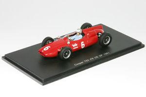 【送料無料】模型車 モデルカー スポーツカークーパークーパークライマックスロジャーアメリカスパークcooper t53 cooper climax roger penskeformula 1 gp usa 1961 143 spark 3512