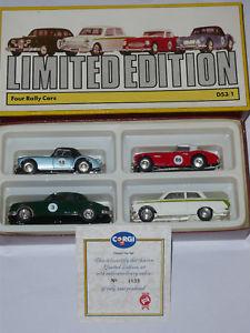 車・バイク, レーシングカー  corgi four rally cars ltd edition no 4839 of 5000 coa