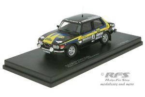 【送料無料】模型車 モデルカー スポーツカーラリーラリースウェーデンsaab 99 ems rally rally sweden 1977 stig blomqvist 143 trofeu mmnc 039