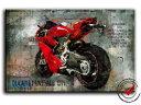 【送料無料】模型車 モデルカー スポーツカードゥカティパニガーレキャンバスオートバイモータースポーツポスターデducati panigale 1299 picture canvas motorcycle motorsport wall picture poster de