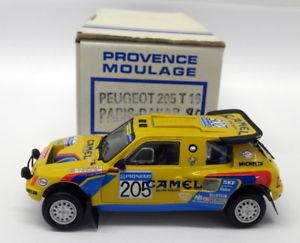 【送料無料】模型車 モデルカー スポーツカーエクスアンプロヴァンスムラージュスケールキットプジョーパリダカールラリーprovence moulage 143 scale built kit 9132 peugeot 206 t16 paris dakar 1990
