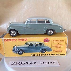 【送料無料】模型車 モデルカー スポーツカーヴィンテージロールスロイスシルバーdinky toys vintage rollsroyce silver wraith n150