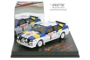【送料無料】模型車 モデルカー スポーツカーアウディクワトロラリーサンレモaudi quattro a1 rally san remo 1982 stig blomqvist 143 vitesse 42065