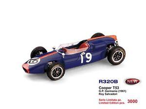 【送料無料】模型車 モデルカー スポーツカークーパーグランプリドイツロイサルバドーリcooper t53 gp germany roy salvadori 1960 143 2000 r320b brumm