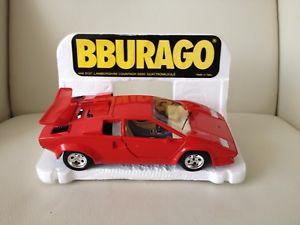 【送料無料】模型車 モデルカー スポーツカーレッドランボルギーニbburago 124 red lamborghini countach 5000 1988 burago