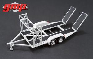 【送料無料】模型車 モデルカー スポーツカートレーラートレーラートランスポータートレーラーシルバーシルバータンデムダイカストtrailer trailer car transporter trailer silver silver tandem gmp diecast 143