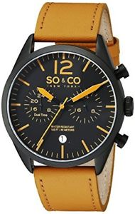 【送料無料】ニューヨークマンクォーツso amp; co york monticello 50283 orologio da uomo al quarzo con quadrante