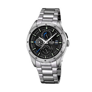 腕時計, 男女兼用腕時計 orologio multifunzione uomo festina f168764 acciaio silver nero watch data mese