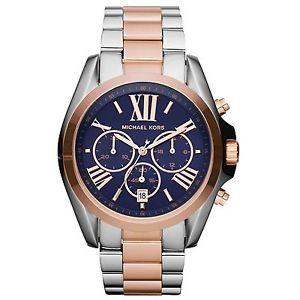 腕時計, 男女兼用腕時計 orologio michael kors bradshaw mk5606 crono acciaio bicolore con boxamp;garanzia