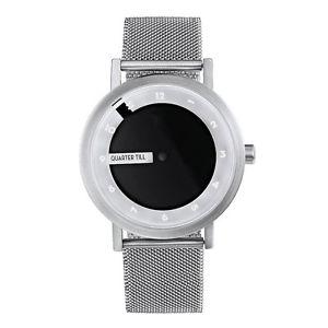 【送料無料】クロックスチールメッシュホワイトブラックプロジェクトprojects watches till watch orologio uomo quarzo maglie acciaio bianco nero