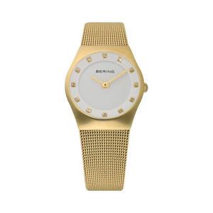 腕時計, 男女兼用腕時計 bering orologio donna cinturino e cassa pvd oro indici con swarovski 11927334
