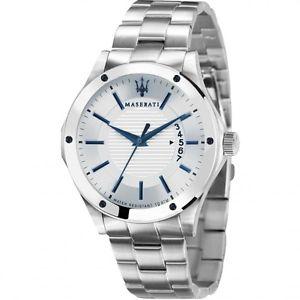 腕時計, 男女兼用腕時計 orologio maserati da uomo collezione circuito r8853127001 cinturino acciaio