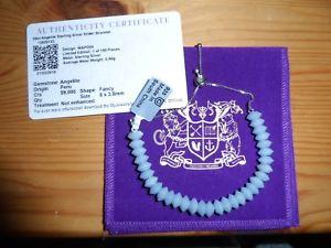 男女兼用アクセサリー, ブレスレット  bnwt gemporia gems tv angelite slider bracelet 925 silver certificate pouch