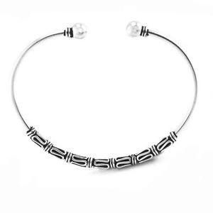 【送料無料】ブレスレット アクセサリ— スターリングシルバーバリカフトルクブレスレットsilverly womens 925 sterling silver intricate balinese cuff torque bracelet