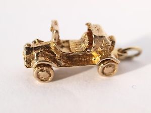 男女兼用アクセサリー, ブレスレット  solid 9ct yellow gold 3d car charm 240 grams hallmarked