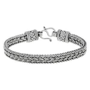【送料無料】ブレスレット アクセサリ— スターリングシルバーバリブレスレットsilverly 925 sterling silver oxidised balinese bracelet, 18 cm