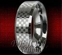 【送料無料】ブレスレットタングステンタングステンリングチェス* nuovo * 8mm tungsteno anello tungsteno * chess 8 *