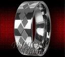 【送料無料】ブレスレットタングステンリングタングステン* nuovo * tungsteno anello 8mm tungsten * rhombus *