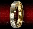 【送料無料】ブレスレットタングステンリングタングステン* nuovo * 6mm tungsteno anello oro placcati tungsten * keltisches design *