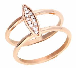 【送料無料】ブレスレット リングステンレススチールピンクゴールドesprit donna dito anello in acciaio inox oro rosa esrg 12856c