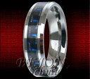 【送料無料】ブレスレットタングステンリングカーボンタングステン* nuovo * 6mm tungsteno anello * neroblu carbonio * tungsten * wrc06 6 *