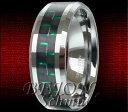 【送料無料】ブレスレットタングステンリングカーボンタングステングリーン* nuovo * 8mm tungsteno anello * neroverde in carbonio * tungsten * wrc04 8 *