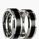 【送料無料】ブレスレットカーボンタングステンリングリング2 anelli in carbonio tungsteno fedi fedine con incisione interna 24070