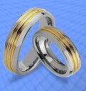 【送料無料】ブレスレットタングステンゴールドリング2 anelli tungsteno vere con oro platierung amp; incisione gratis jw16