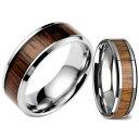 【送料無料】ブレスレットスチールリングチタンタングステンnuova inserzionelegno anello acciaio al titanio tungsteno naturale koa matrimonio uomo donna 6
