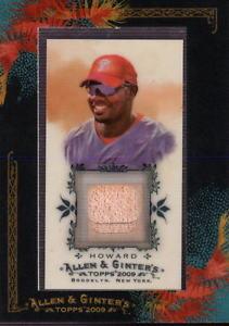 【送料無料】スポーツ メモリアル カード アレンライアンハワード2009 topps allen and ginter relics rh2 ryan howard bat bx 35u